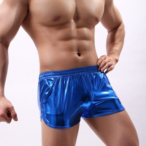 Sparkly & Shiny Wet Look Nylon Shorts - Pride Picks