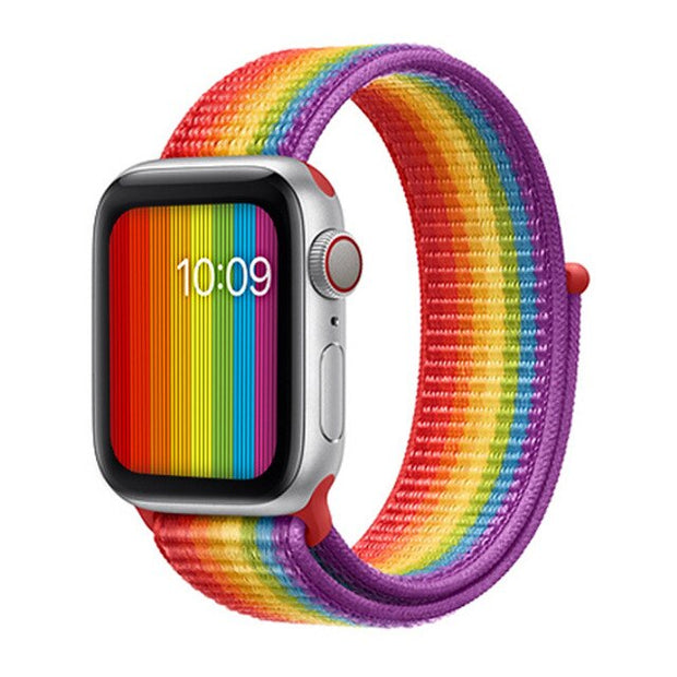 Rainbow Apple Watch Sports Loop Band - Pride Picks