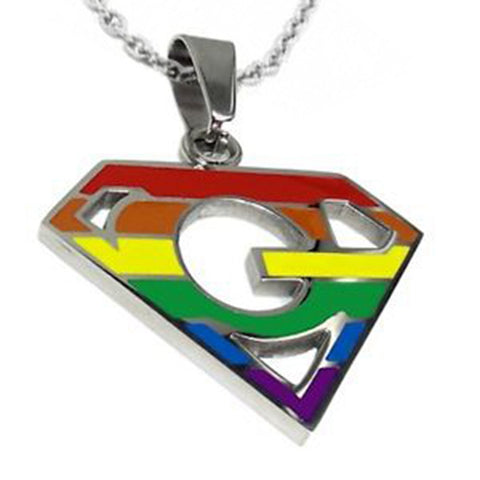 rainbow necklace girl design micro summer fashion pave pendant item color gold