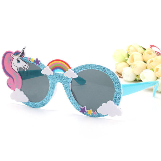 Shiny Blue Unicorn Sunglasses