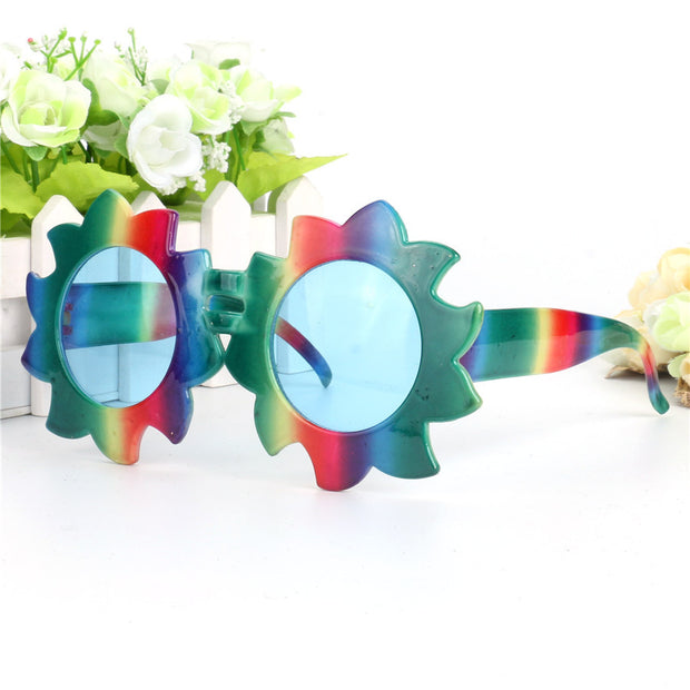 Rainbow Sunflower Glasses