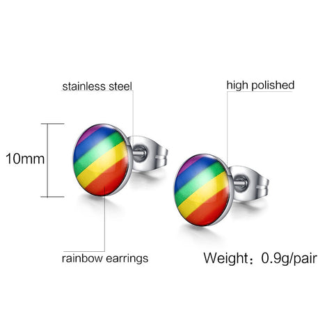 Rainbow Stud Earrings
