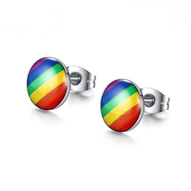 Rainbow Stud Earrings - Pride Picks