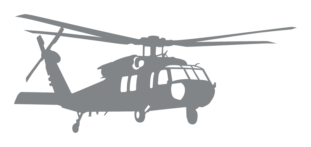 Vinyl Decal | MH-60 Helicopter Angle View