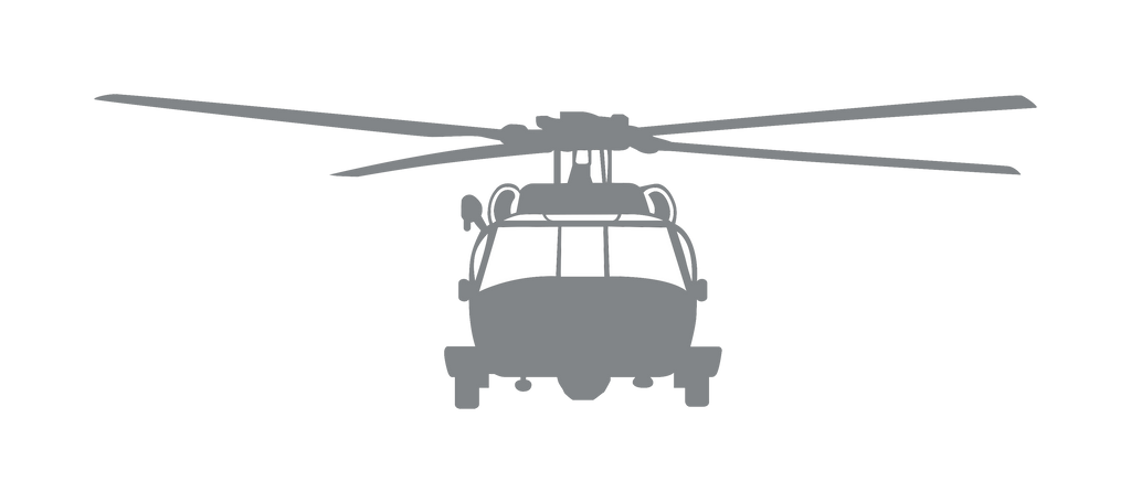 Vinyl Decal | MH-60 Helicopter Front View