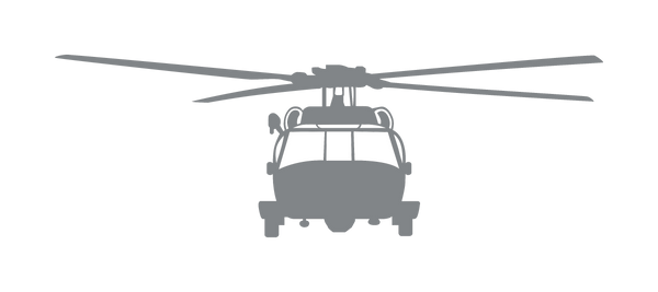 Vinyl Decal Mh 60 Helicopter Front View Mil Boutique