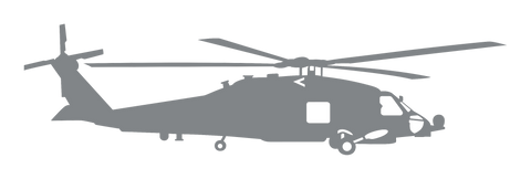 Vinyl Decal | MH-60 Helicopter Starboard Side