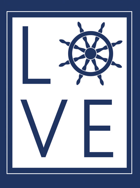 Greeting Card | Ship Wheel LOVE