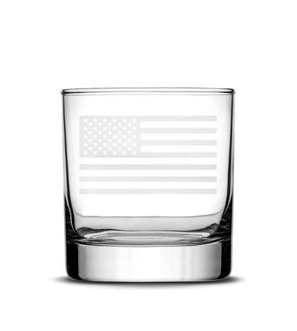 Glass Whiskey | American Flag