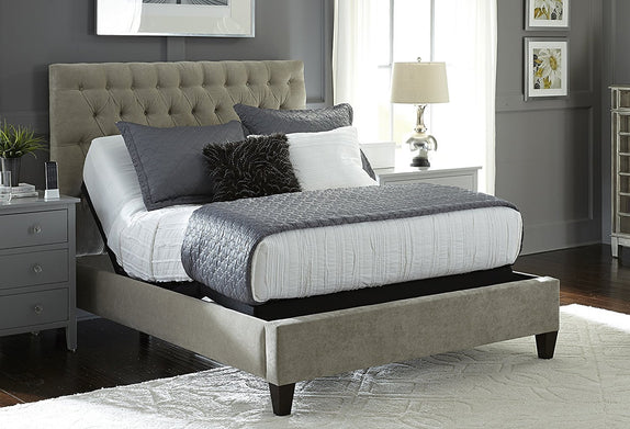 Base & Mattress Combo: Leggett & Platt 2019 NEW Prodigy Comfort Elite Split King with 12 inch Miranda Mattress