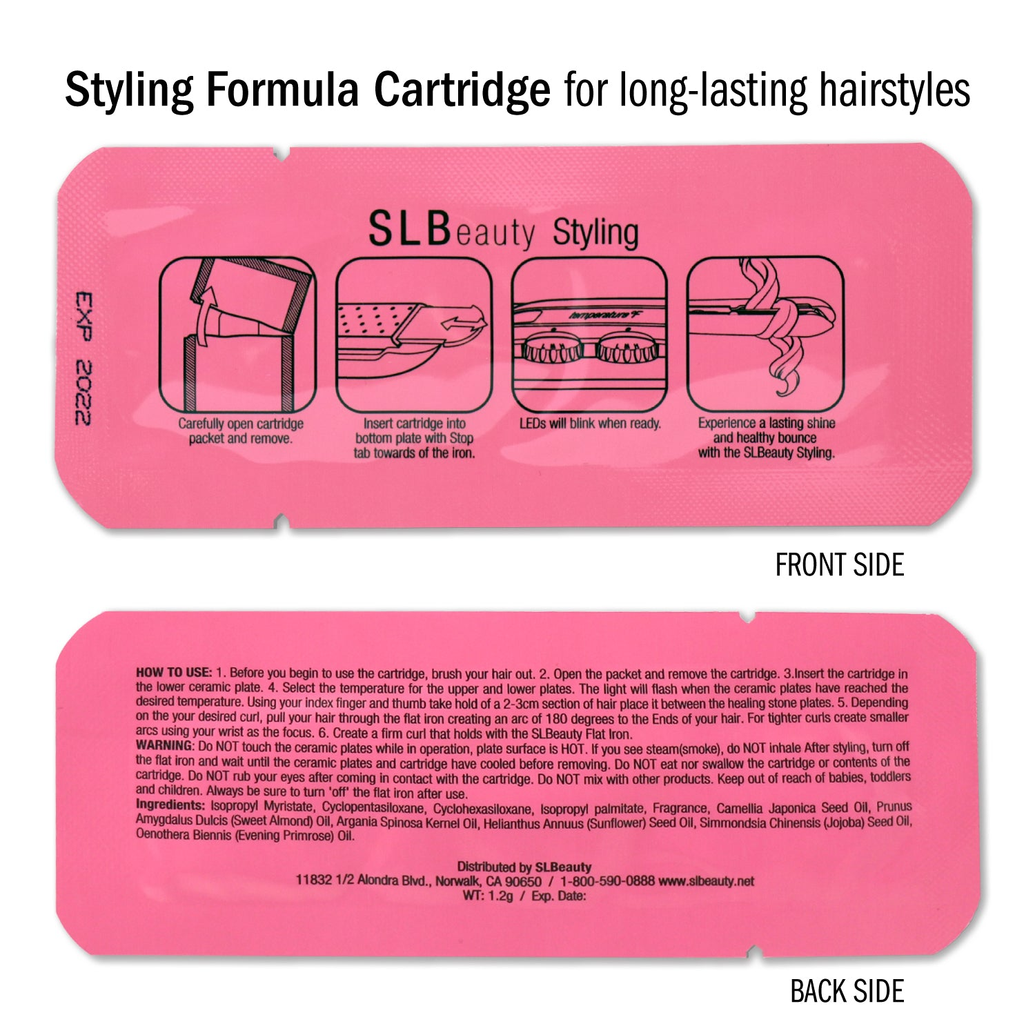 Heat-Protectant Cartridges for SLBeauty Flat Iron