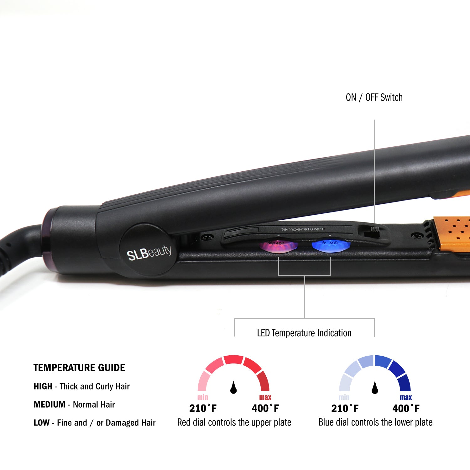 SLB Flat Iron Adjustable Temperature