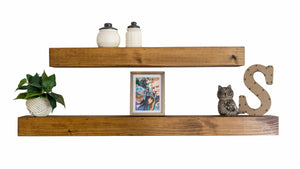 "4"" Deep Wood Floating Shelf"