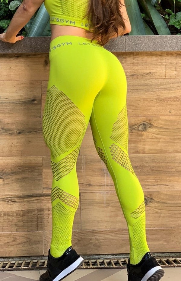 Leggings SEAMLESS - LIME GREEN
