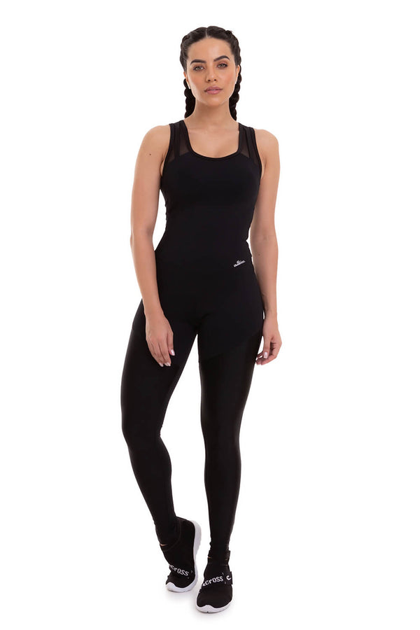 Jumpsuit NZ LIGHTNESS - BLACK