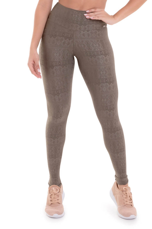 Textured Leggings CHARM - TAUPE