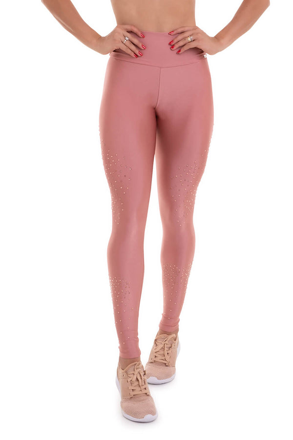 High Waist Atlanta Leggings STARDUST - Rose Gold