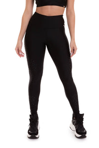 High Waist Atlanta Leggings STARDUST - Black