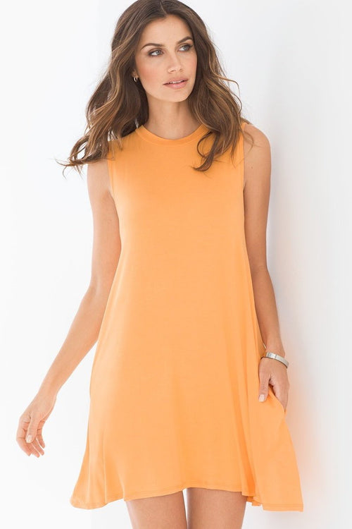 Elan Beach High Neck  Dress Tangerine CoverUps Resort Wear MDM5110