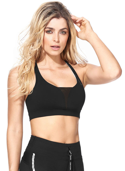 Corinna Supplex Bra Top - Black
