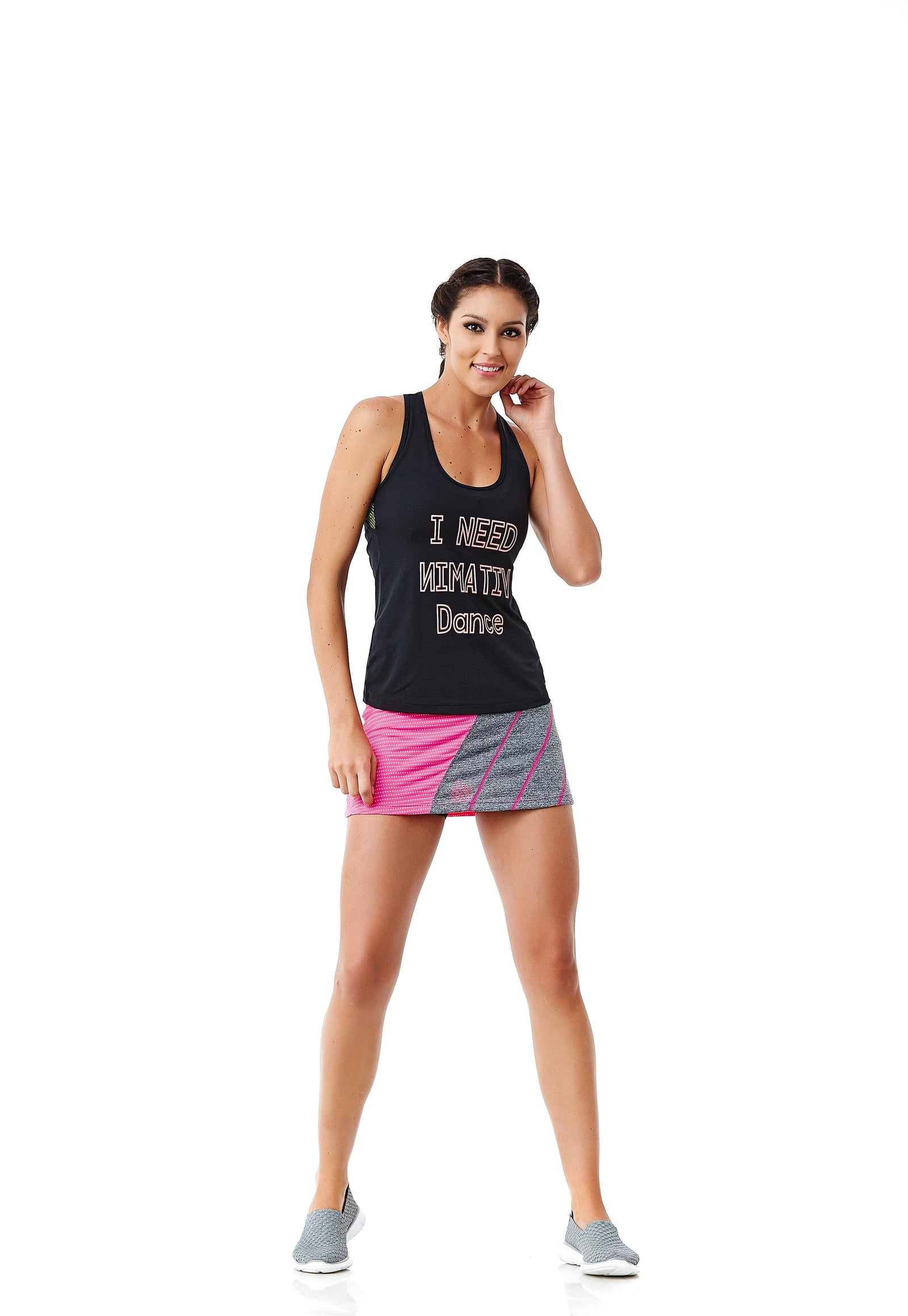 CajuBrasil USA Outlet Luxury Brazilian Fitness Tennis Skort Pink 6216