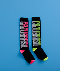 High Compression CajuBrasil Socks - Black/Lime