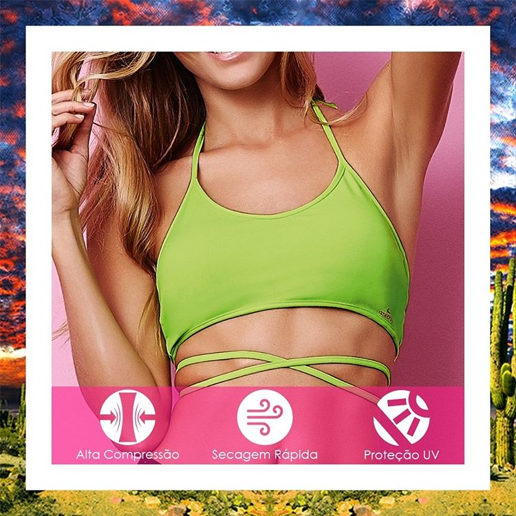 CajuBrasil USA Brazilian Fitness Bra Top STRAPPY - Lime Green 6900 Sale Outlet