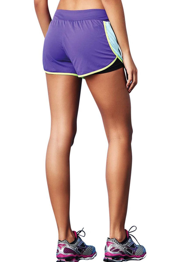 CajuBrasil USA Brazilian Fitness Running Shorts Turquoise Purple UV