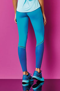 CajuBrasil USA Brazilian Fitness Leggings Compression Supplex IMPACTUS - Jade 7543 Slimming