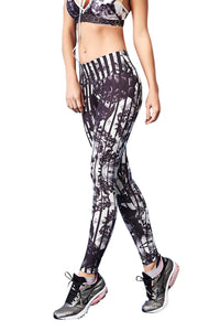 Leggings PRINT - Black Rose
