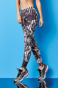 Leggings PRINT - Black Rose - Plammie Activewear