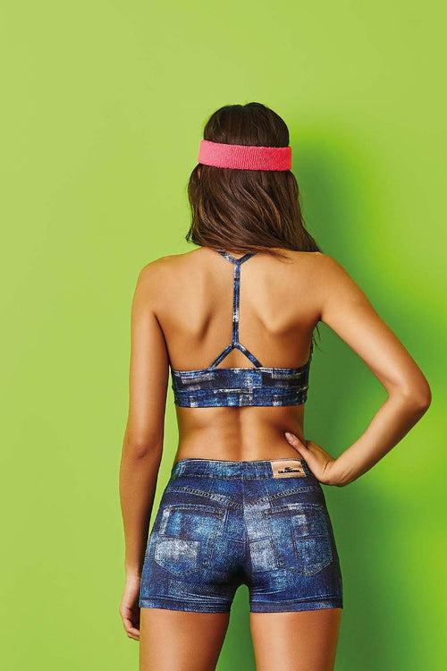 CajuBrasil USA Luxury Fashion Fitness 7700 Bra Top INDIGO Jeans Sale Outlet
