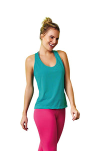 Cajubrasil Brazilian Fashion Fitness Mesh Tank Top - JADE
