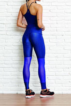 CajuBrasil USA Brazilian Fashion Fitness Mesh Textured Leggings ZIPPER - Royal Blue 8122