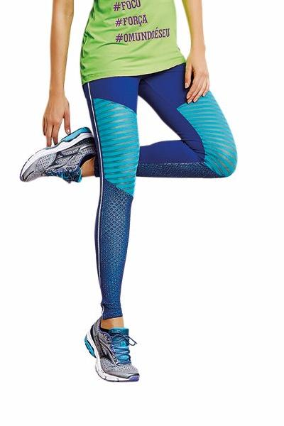 CajuBrasil USA Brazilian Fitness Leggings NZ IMPACT - Royal Blue 8143 Slimming Compression
