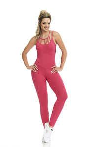 CajuBrasil USA Outlet Sale One piece Onesie Jumpsuit STRAPPY - Pink 8154