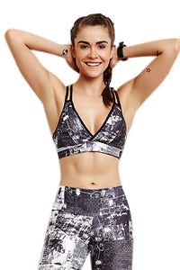 Bra Top PRINT - Monochromatic