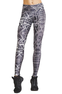 Acqua Swim Leggings - BLACK/WHITE