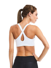 CajuBrasil USA Brazilian Fitness Bra Top Solid White Padded 9006