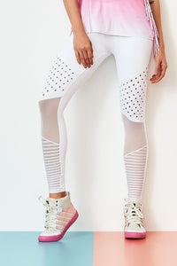 Leggings NZ PREMIUM - White - Plammie Activewear