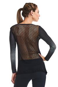 La Belle De Jour Long Sleeve Top - Black