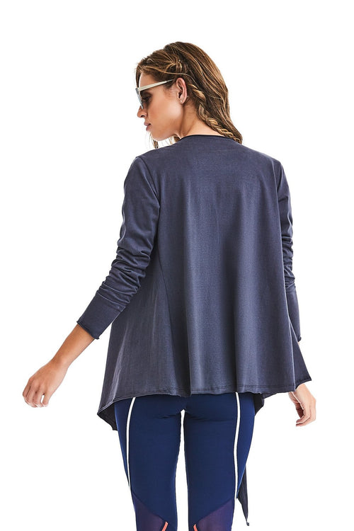 CajuBrasil USA Fashion Fitness 9317 Cardigan STYLE - Grey
