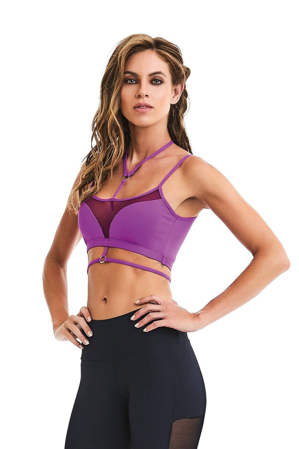 CajuBrasil USA Fashion Fitness Brazilian 9318 Bra Top TREND - Purple