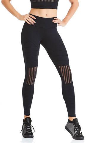 Leggings ACTIVE STRIPES - Black/White
