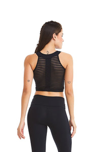 Crop Bra Top MODERN - Black - Plammie Activewear