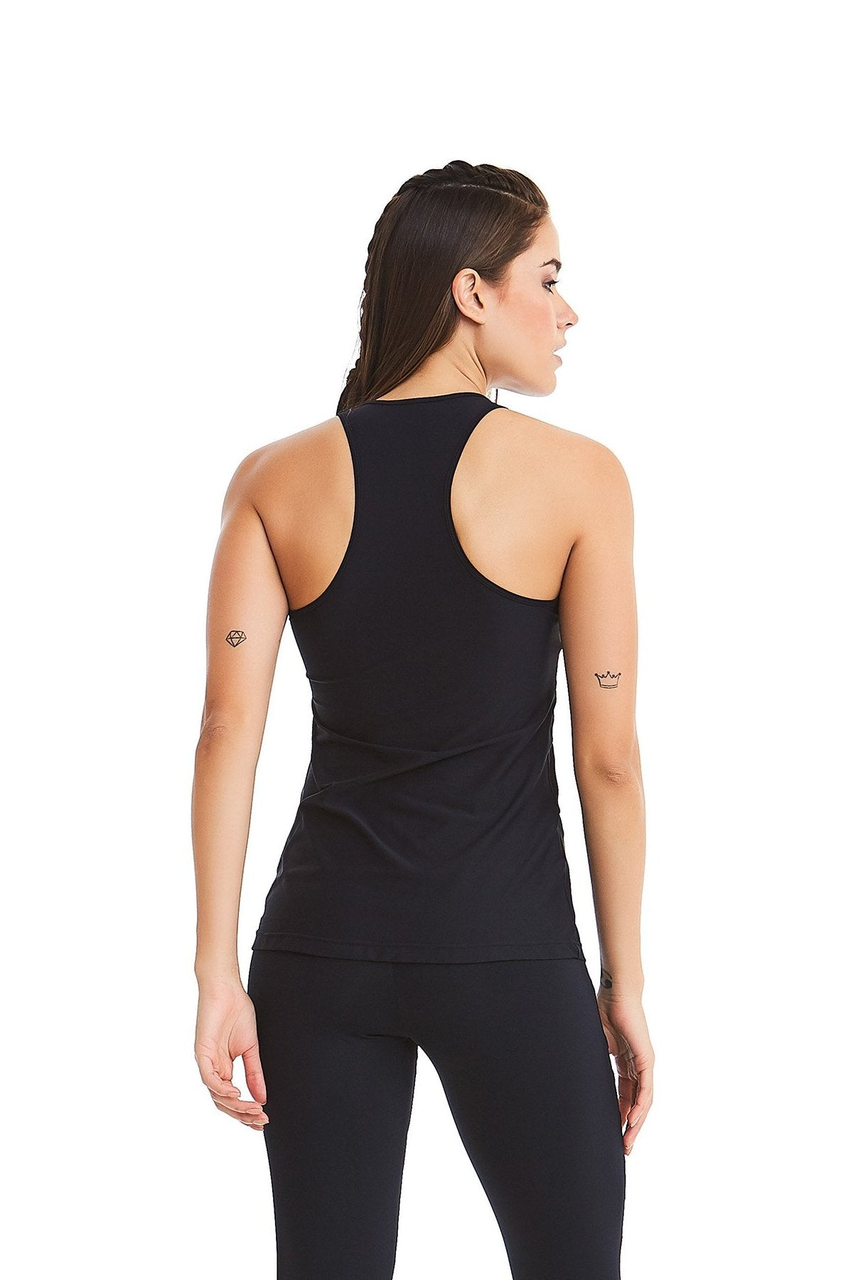 Tank Top Laser LIKES - Black - UV Protection! - Plammie Activewear