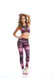 CajuBrasil Fashion Fitness USA Upscale Luxury Leggings ROCK FASHION - Rose Dusk