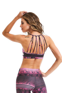 CajuBrasil USA Brazilian Fashion Fitness Mesh Bra Top ROCK FASHION - Rose Dusk