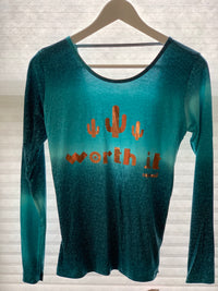 "Long Sleeve Top ""WORTH IT"" - More Colors"