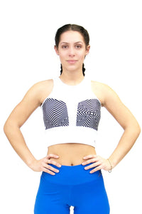 CajuBrasil USA Brazilian Fashion Fitness Crop Top White Sexy Hot